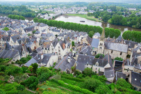 chinon: Chinon, Loire Valley, France Stock Photo