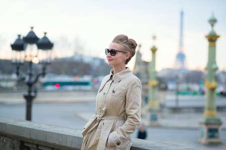 Beautiful Parisian woman Stock Photo