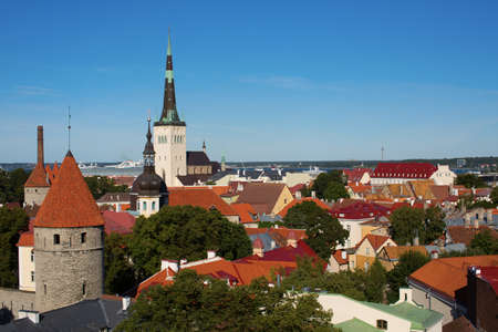 Scenic view of the Old Town of Tallinn photo