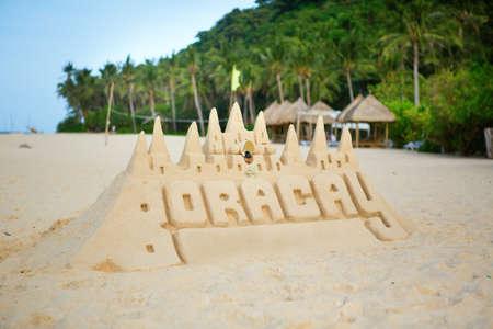 chateau de sable: Ch�teau de sable sur Boracay, Philippines