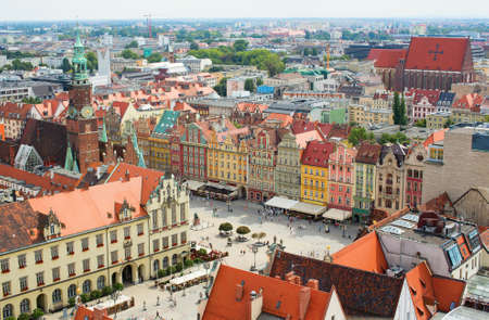 wroclaw: Aerial view of Wroclaw