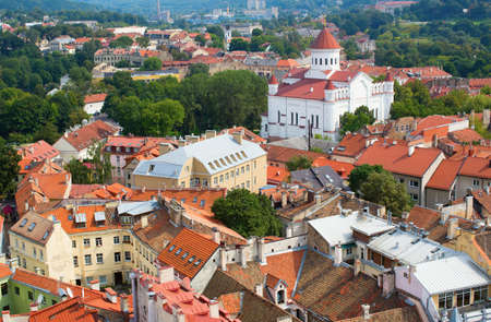 disctrict: Panoramic view of Vilnius old town