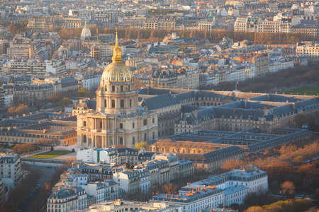 invalides: Aerial view of Les Invalides in Paris Stock Photo