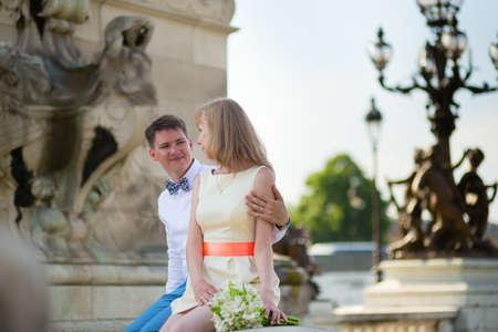 alexandre: Just married couple on the Alexandre III bridge in Paris