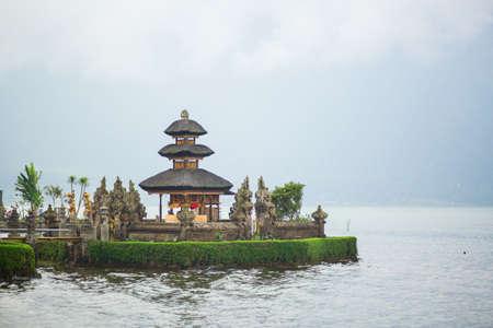 ulun: Pura Ulun Danu temple in Bali, Indonesia Stock Photo