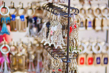 Eiffel tower trinkets for sale in Paris, France photo