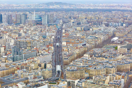 Aerial view of line 6 of Parisian metro, seen form the Montparnase tower Stock Photo