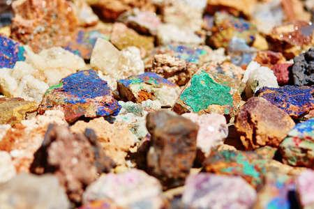 sulfide: Colorful minerals on Moroccan market