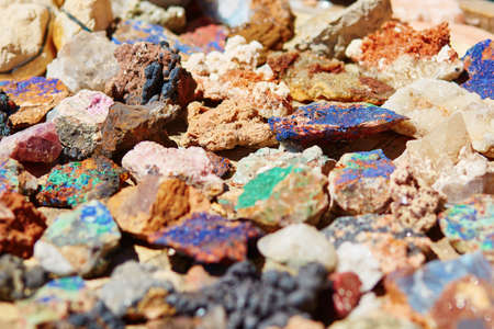 halide: Colorful minerals on Moroccan market