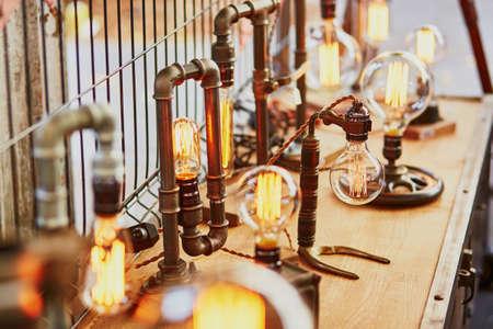 fleamarket: Light bulb on a Parisian flea market