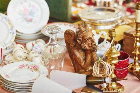 fleamarket: Statuette of chimera on a Parisian flea market Stock Photo