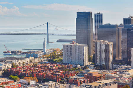 frisco: Scenic view of downtown in San Francisco, California, USA