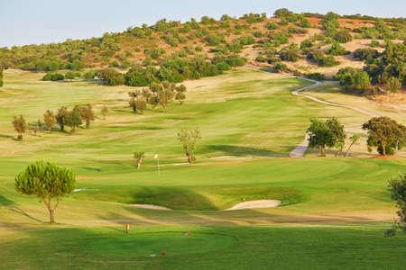 Large golfe field in Algarve, Portugal Stock Photo