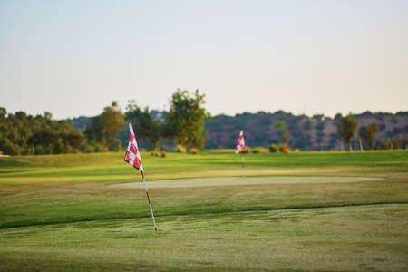 caddie: Large golfe field in Algarve, Portugal Stock Photo