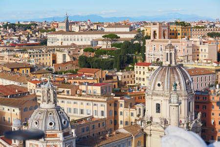 lazio: Aerial view of Rome, Lazio, Italy