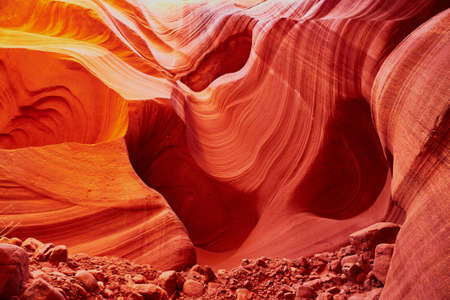 Lower Antelope Canyon in the Navajo Reservation near Page, Arizona, USA Stock Photo