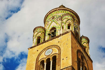 Church in Amalfi, beautiful Mediterranean village on Amalfi Coast (Costiera Amalfitana) in Campania, Italy