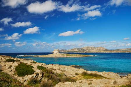 Scenic landscape of Emerald coast of Sardinia, Italy. Stintino region
