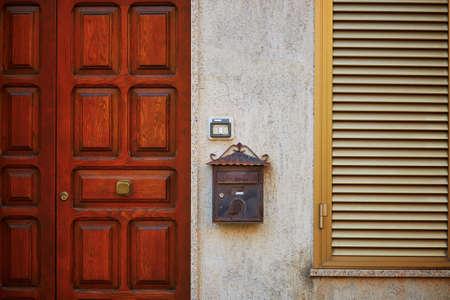 Typical Italian house in Bosa, Sardinia, Italy