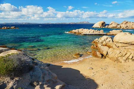 Scenic landscape of Emerald coast of Sardinia, Italy Stock Photo