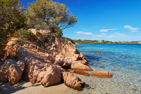 Scenic landscape of Emerald coast of Sardinia, Italy Stock fotó