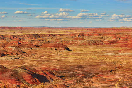 Scenic view of a landscape in the Painted Desert national park in Arizona, USA