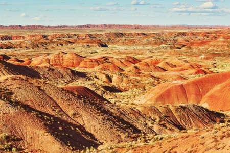 Szenische Ansicht einer Landschaft im gemalten Nationalpark der Wüste in Arizona, USA
