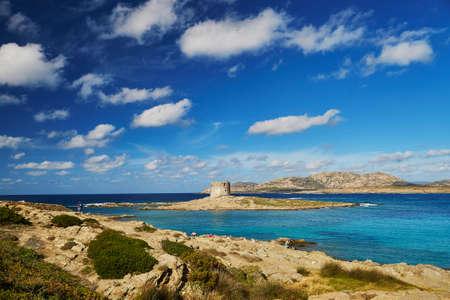 Scenic landscape of Emerald coast of Sardinia, Italy. Stintino region Standard-Bild - 102459604