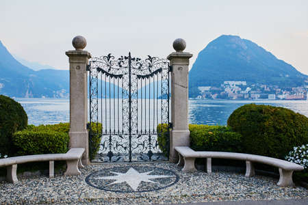 Scenic view from Parco Civico-Ciani in the town of Lugano, canton of Ticino, Switzerland
