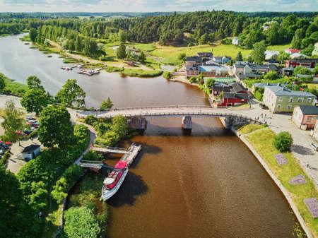Scenic aerial view of historical town of Porvoo in Finland Archivio Fotografico - 127134795
