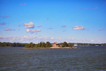 Small island in Finnish gulf near Helsinki, Finland