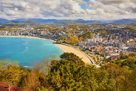 Aerial scenic view of San Sebastian (Donostia), Spain 스톡 콘텐츠 - 138474244