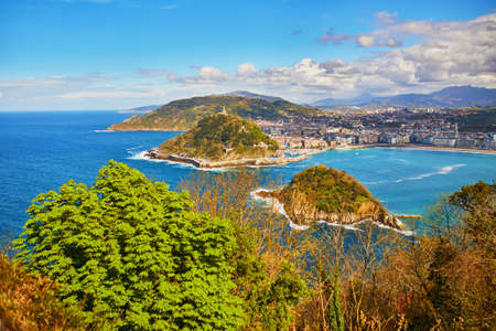 Aerial scenic view of San Sebastian (Donostia), Spain 스톡 콘텐츠 - 138474346