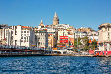 ISTANBUL, TURKEY - October 9th, 2019: Genuine architecture along the banks of Bosphorus, popular travel destination and significant passway between Europe and Asia. Bosphorus cruise.