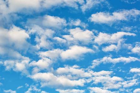 Cloudy sky, natural outdoor background Banco de Imagens