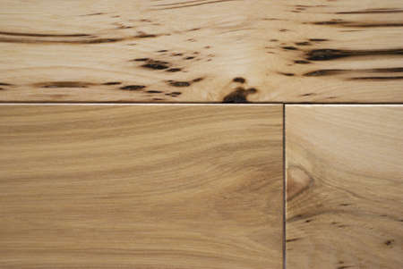 hardwood: Character grade hickory flooring macroclose up.