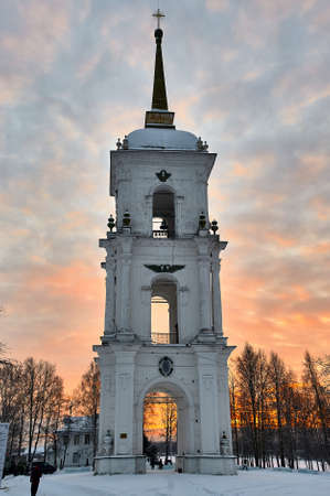 The bell tower in the town of Kargopol