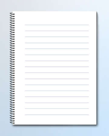memo: Blank notebook with lined pages