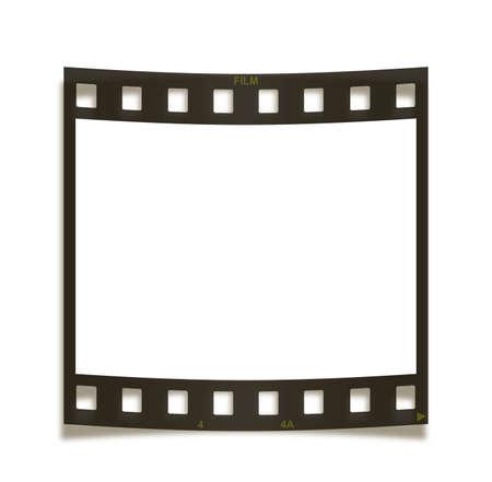 Blank curved film frame