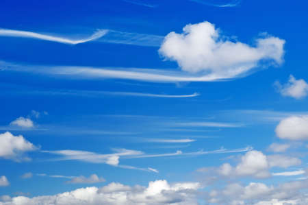 mare's tails wispy cirrus clouds Stock Photo - 6057085