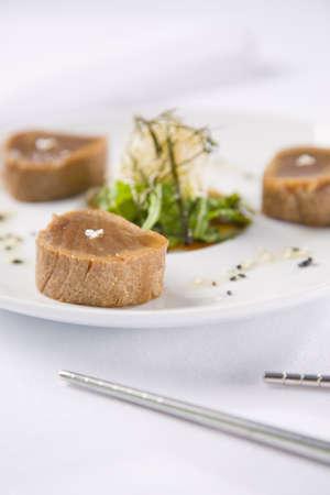 seared: Seared Tuna Stock Photo