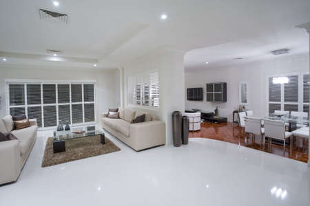 showcase interiors: Luxurious living rooms with dining table in the background