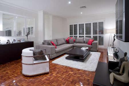 Luxuus living room with wooden flooring Stock Photo - 6151912