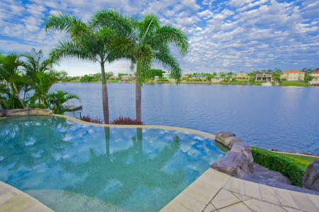 pool deck: Infinity Pool with Views over canal