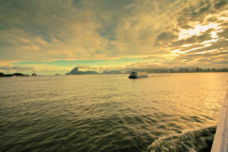 views of Rio de Janeiro from ferry crossing over to Niteroi photo
