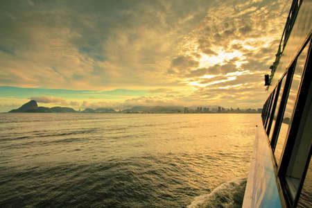 views of Rio de Janeiro from ferry crossing over to Niteroi Stock Photo - 6152008