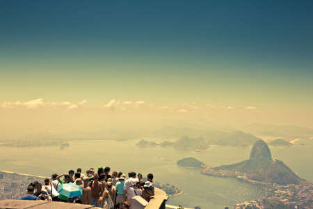 tourists at look out point over Rio de Janeiro photo
