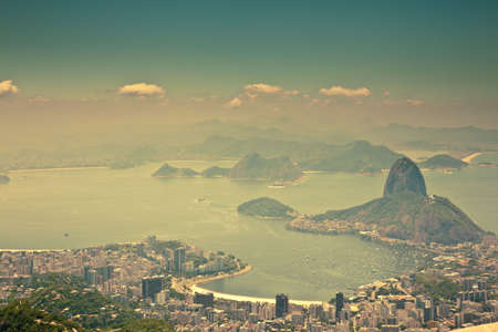 views Rio de Janeiro and Sugarloaf Mountain from Corcovado photo