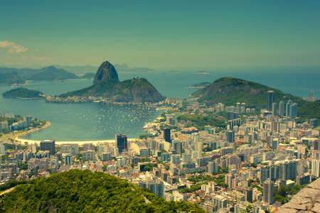 brasil: views Rio de Janeiro and Sugarloaf Mountain from Corcovado