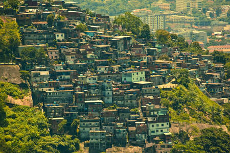 slum: Favela or slum seen from Corcovado